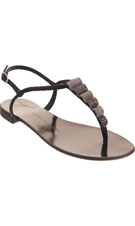 Giuseppe Zanotti Jewel-Embellished T-Strap Sandal