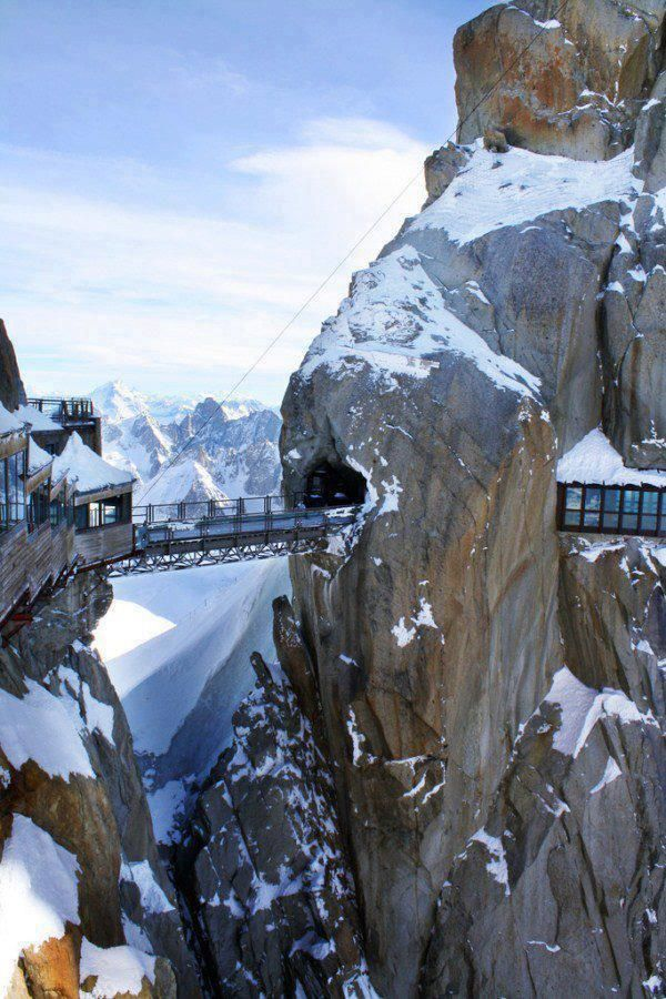 20 Most Beautiful Places to Visit in the World - Aiguille du Midi Bridge, France
