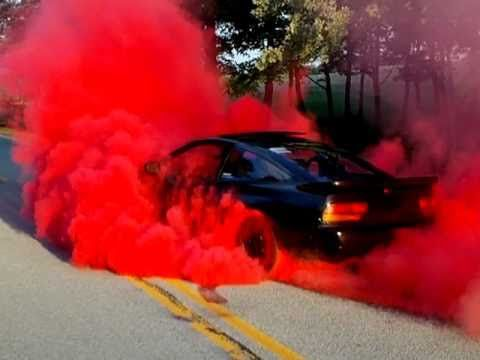 240SX Red Burnout