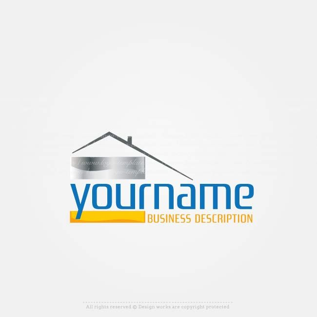Create a Logo Template, Ready made real estate logo template with house logo image. Construction logo templates  Design alogo online with our freelogo maker.Use ourlogo creator tochange text,fillyour company name, slogan, colors, fonts and more.