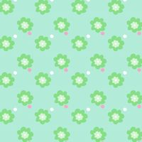 mint green floral pattern