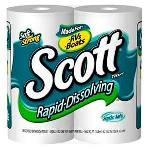 Toilet paper (prefer Septic Safe single ply)