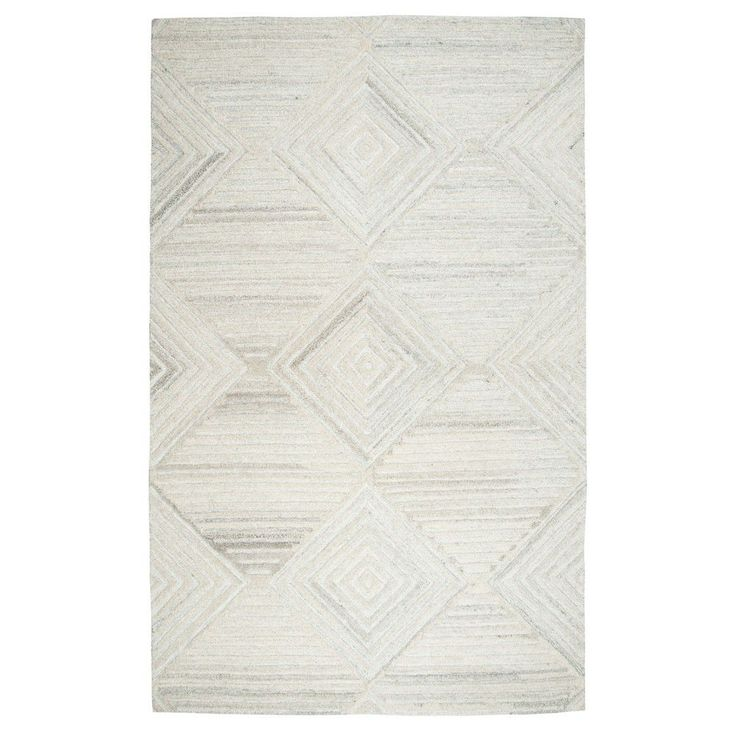 Geometric/Solid Rug - Ivory - (5'X8') - Rizzy Home