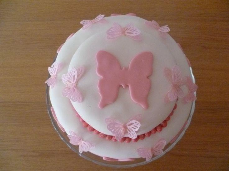 Vlinder-verjaardagstaart