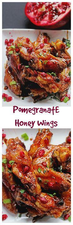 Pomegranate Honey Wings | Grandbaby Cakes