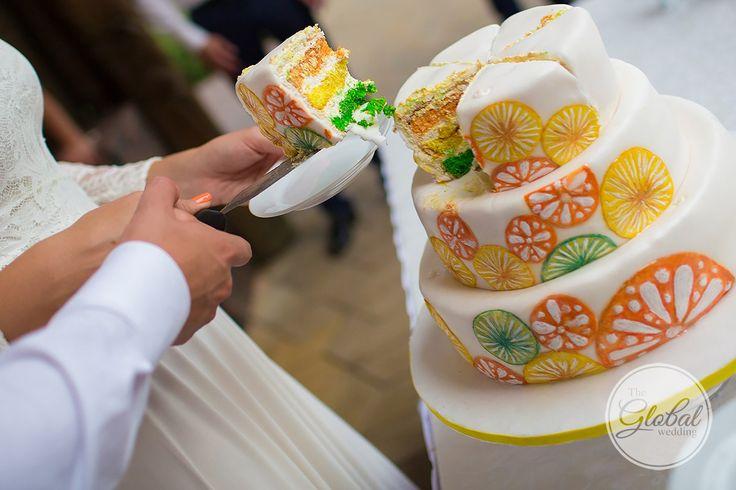 Citrus wedding Wedding cake Цитрусовая свадьба Свадебный торт