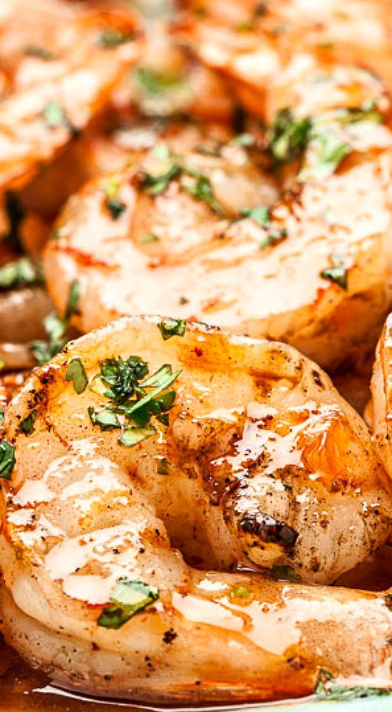 .Spicy Buttery Asian Grilled Shrimp