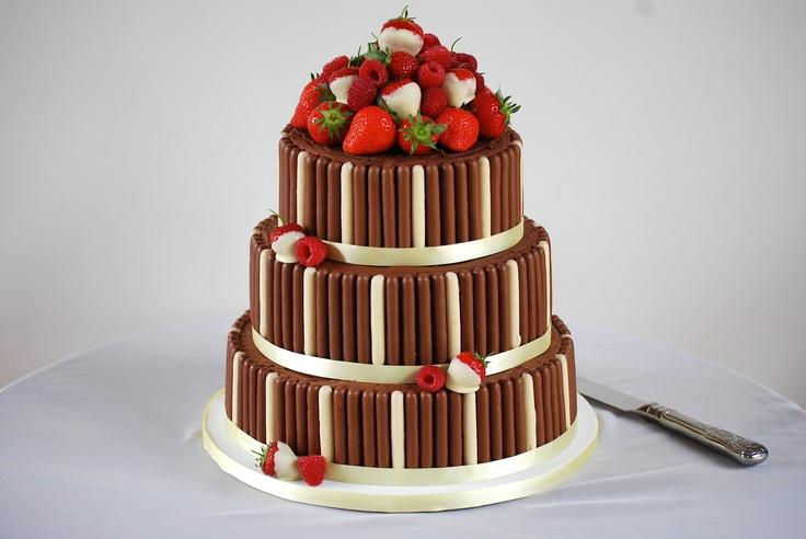 chocolate finger wedding cake created by my wonderful friend Sarah