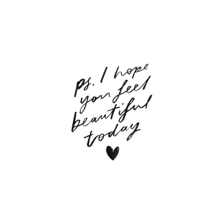 ps: I hope you feel beautiful today. ❥