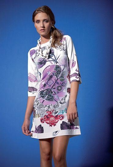Fehu Green Floral Print Tunic 53205