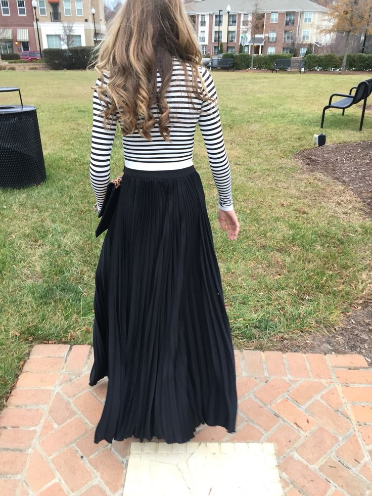 Black maxi skirt #swoonboutique