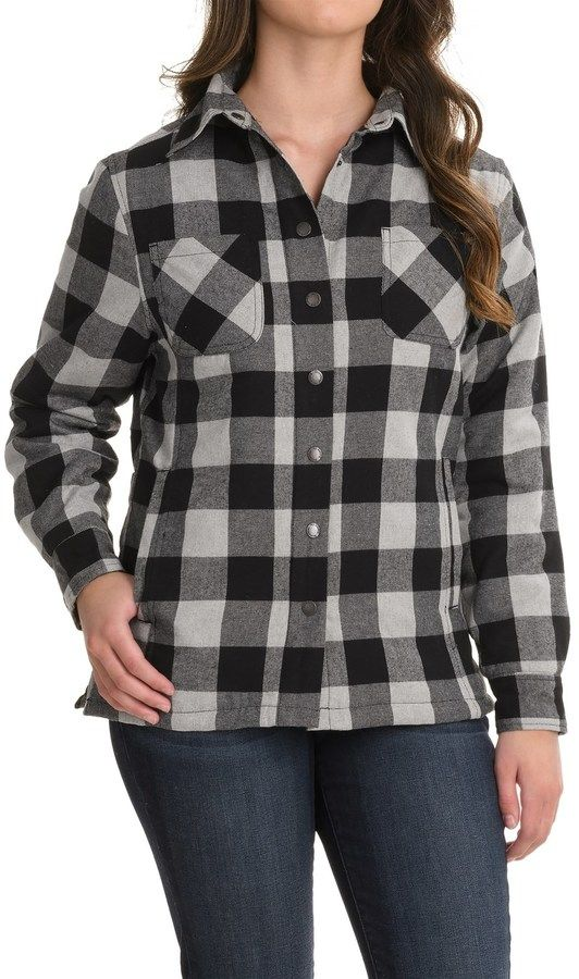Stillwater Supply Co. Flannel Shirt Jacket - Quilted Lining (For Women)