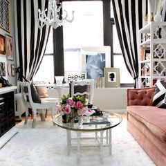 Very feminine chic -eclectic living room by Nichole Loiacono Design