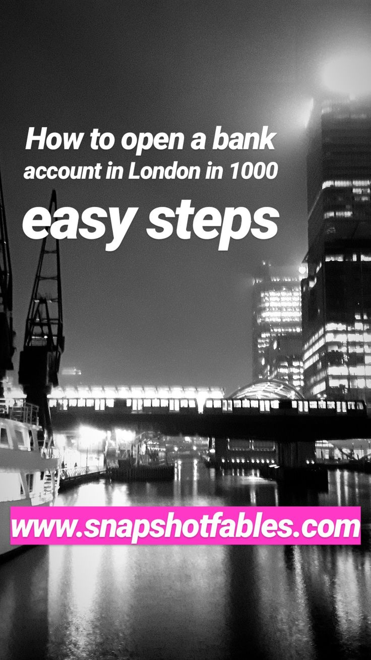 Despite being a financial hub where all well-known banks have their headquarters, it's a real challenge to open a bank account once you move to London. Read more: www.snapshotfables.com