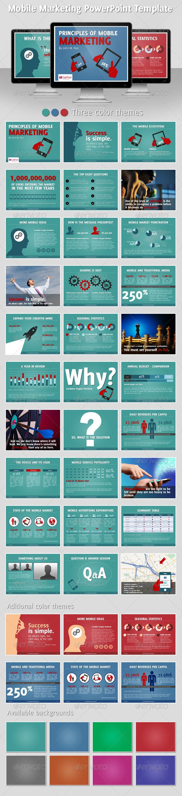 Presentation Templates - Mobile Marketing PowerPoint Template | GraphicRiver