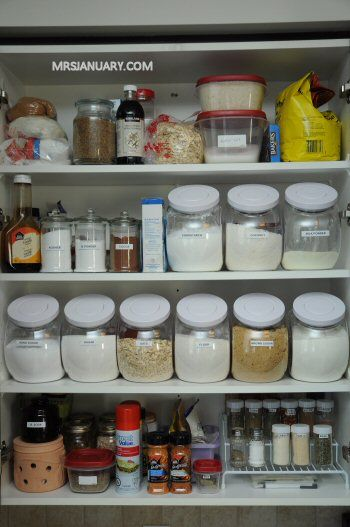 Baking Cupboard via MrsJanuary.com #organizing #kitchen