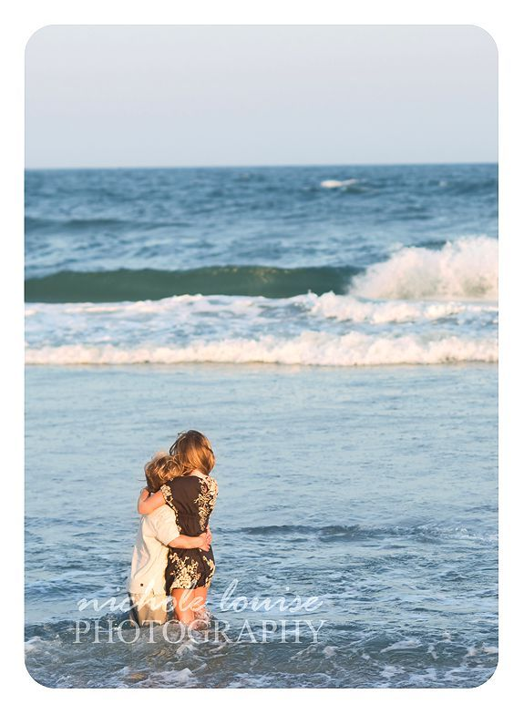 brother sister at beach