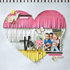 Picture of Fringe heart layout