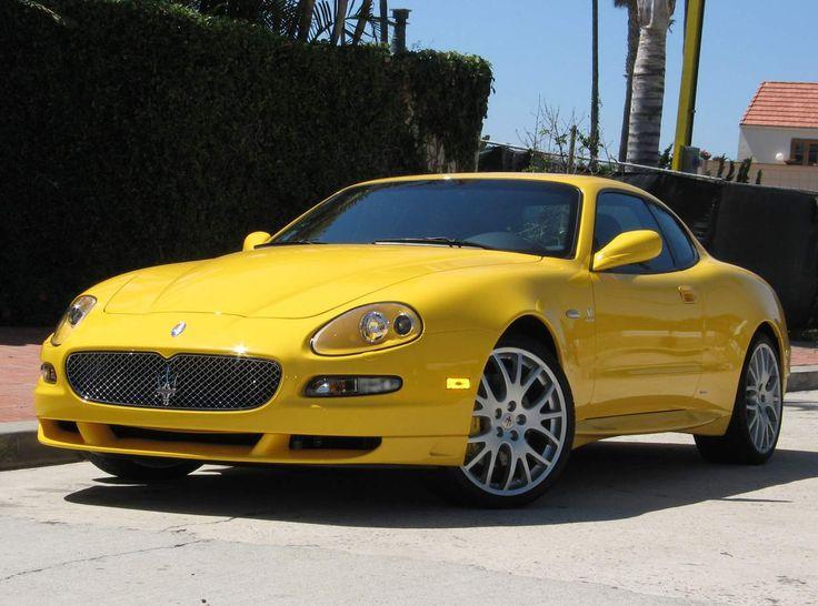 Yellow Maserati Coupe