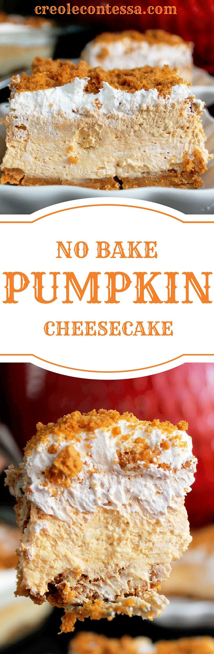 No Bake Pumpkin Cheesecake Lasagna is what I made for after dinner the other night.