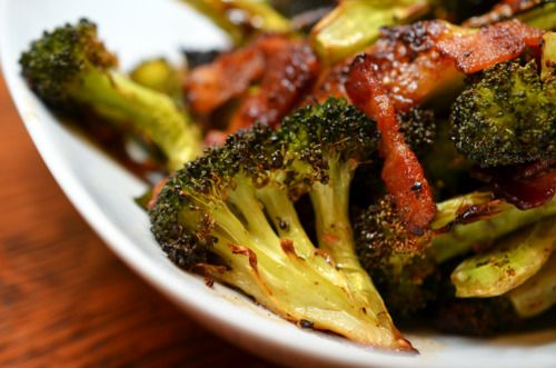 Roasted Broccoli and Bacon