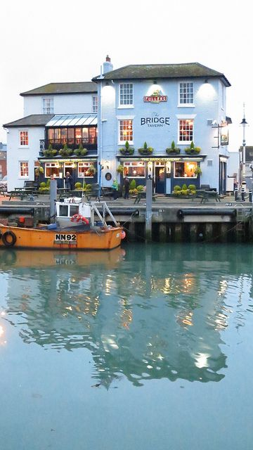 Bridge Tavern, Portsmouth, England.  Go to www.YourTravelVideos.com or just click on photo for home videos and much more on sites like this.