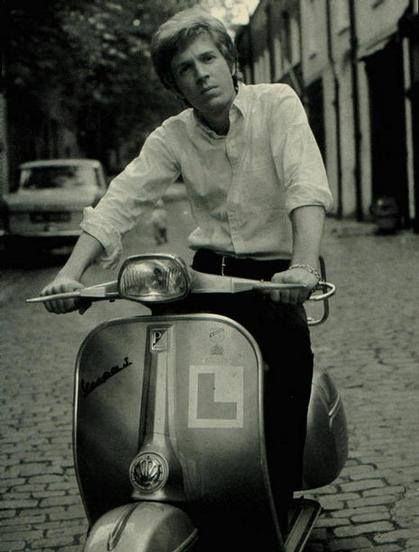 Scott Walker (the singer, not the politician) on a Vespa. That is all.