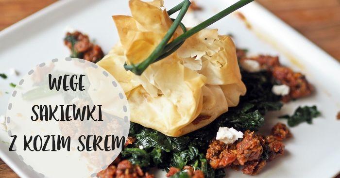 Wegetariańskie sakiewki z kozim serem Filo sachets with goat cheese, vegetaira