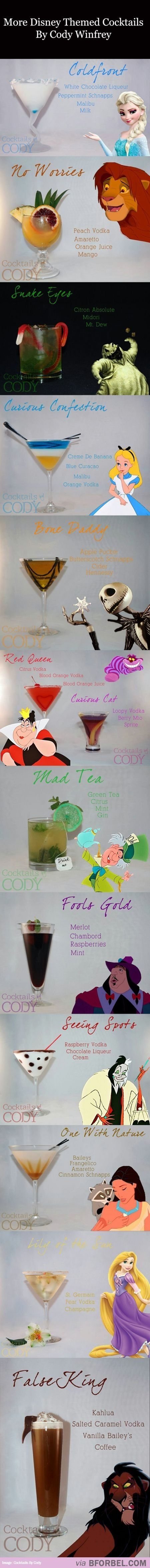 Cocktails According to Your Favorite Disney Movie