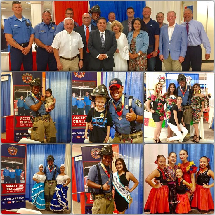 """Thank You so much to the OKC Hispanic Chamber of Commerce for inviting OKCFD to be a part of their """"Viva Oklahoma Hispanic Expo""""!!! #Fire #Duty #Family #Hispanos #Familia #OKCFD #MeetTheNeed"""