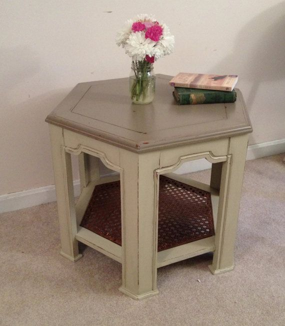 French Linen Chalk Paint Coffee Table: SALEFrench Country End Table Or Coffee Table By