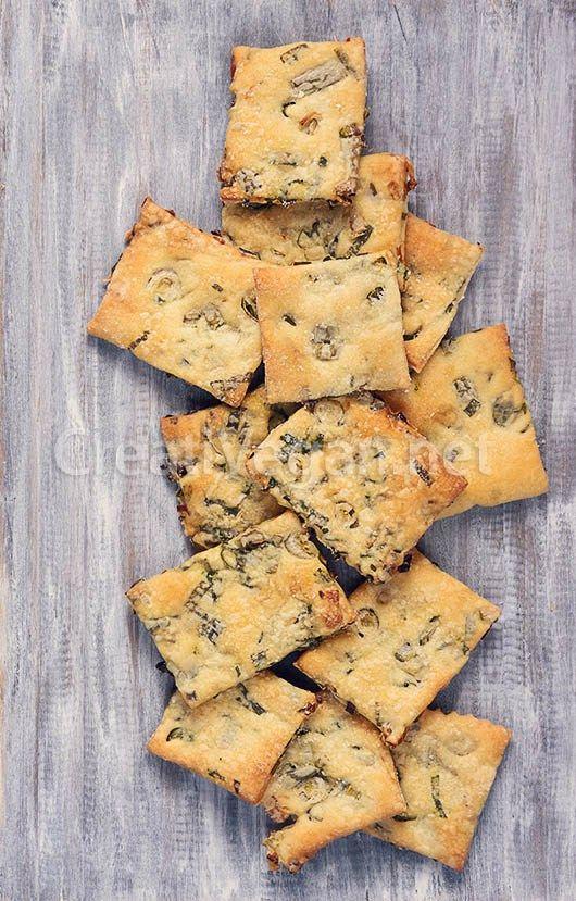 Crackers o galletas saladas crujientes de spring onion                                                                                                                                                      Más