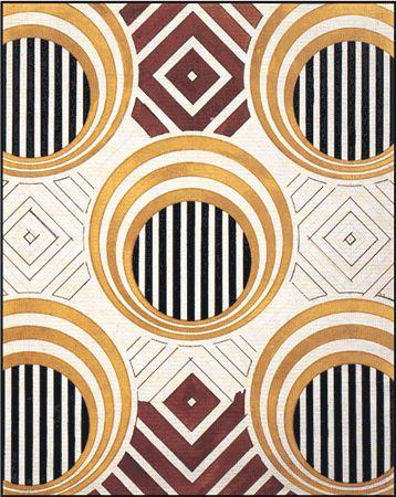 // Lyubov Popova Textile Design, 1924  Gouache and Pencil.