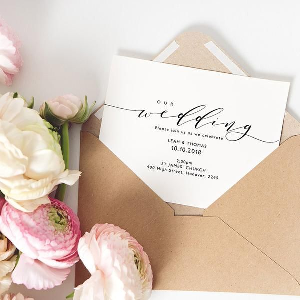 Elegant and simple, make this beautiful wedding invitation set using the downloadable printable templates. Other matching wedding stationery items available to print in the same style... Weddings by Connie & Joan