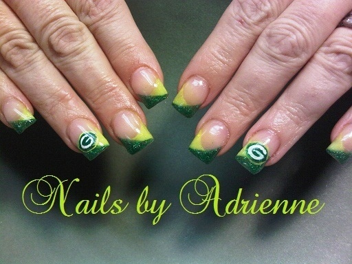 Greenbay packer nail art