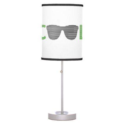 Cool - sunglass -  black and green. table lamp - holidays diy custom design cyo holiday family