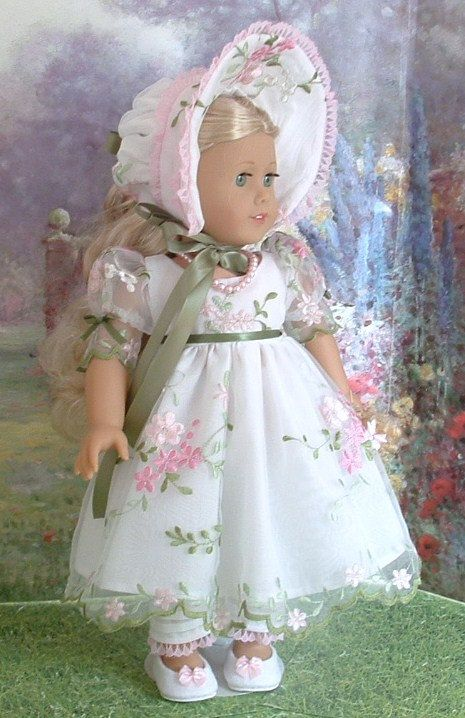 Summer Sweetness Gown and Bonnet for by MyGirlClothingCoHeir, $85.00