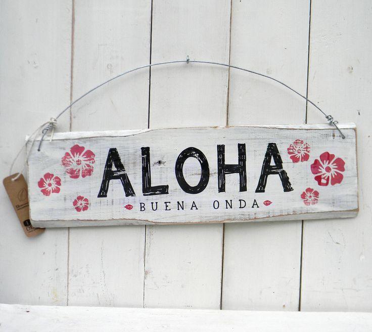 Letreros vintage   ALOHA - Comprar en ONDECO