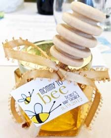 This Mommy To Bee Honey Baby Shower Favor With Wooden Dipper