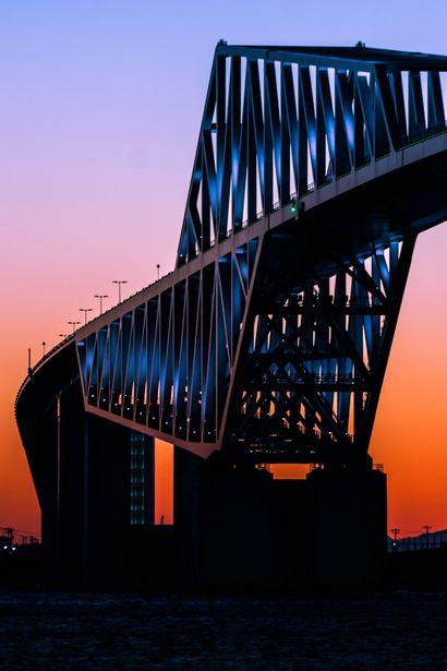Sunset in Tokyo Gate Bridge, Japan