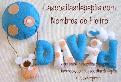 Las cositas de Pepita: Nombres fieltro infantiles