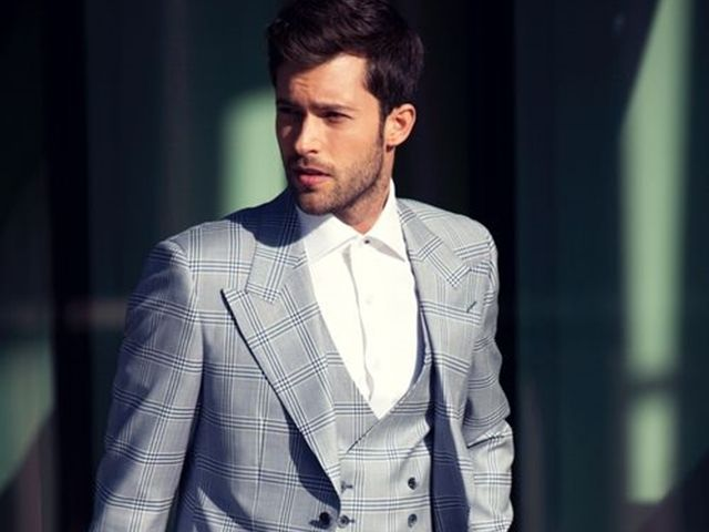 45 Coolest Summer Looks For Taller Men Checkered Suit Mens