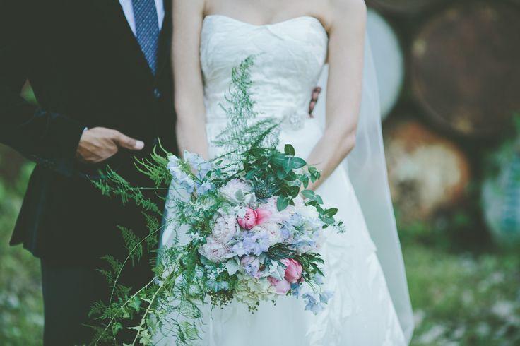 Wedding couple with style