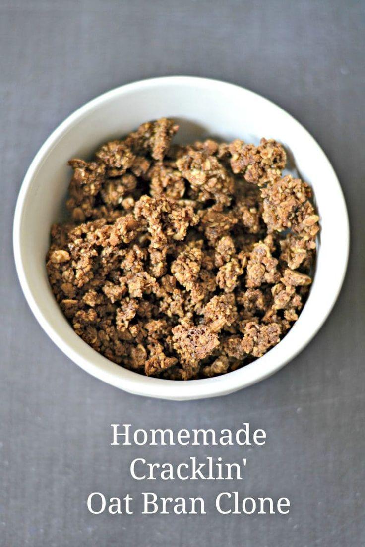 An easy recipe for homemade Cracklin' Oat Bran cereal.