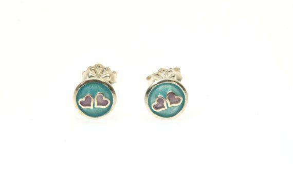#Heart #Earrings,Tiny Heart,#Small Stud Earrings,Teen Jewelry,Teen Girls Earrings,Post Earrings,Enamel Earrings,Enamel Jewelry,ValentineDay