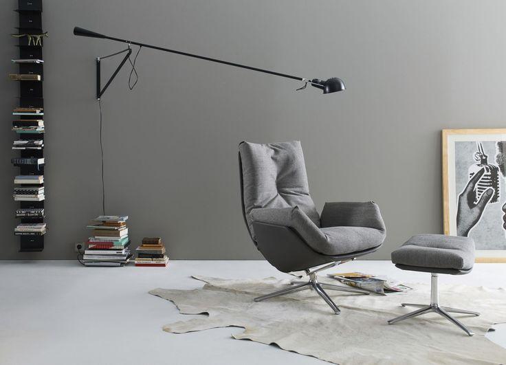 Fauteuil contemporain / en cuir / en tissu / en métal laqué CORDIA LOUNGE by…