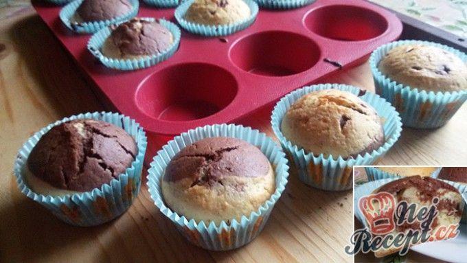 Muffiny se zebra vzorem - fotopostup