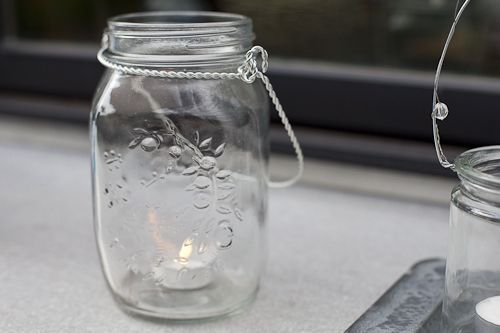 Eastland Large Mason Jar with Handle Glass Set of 12 | Quick Candles