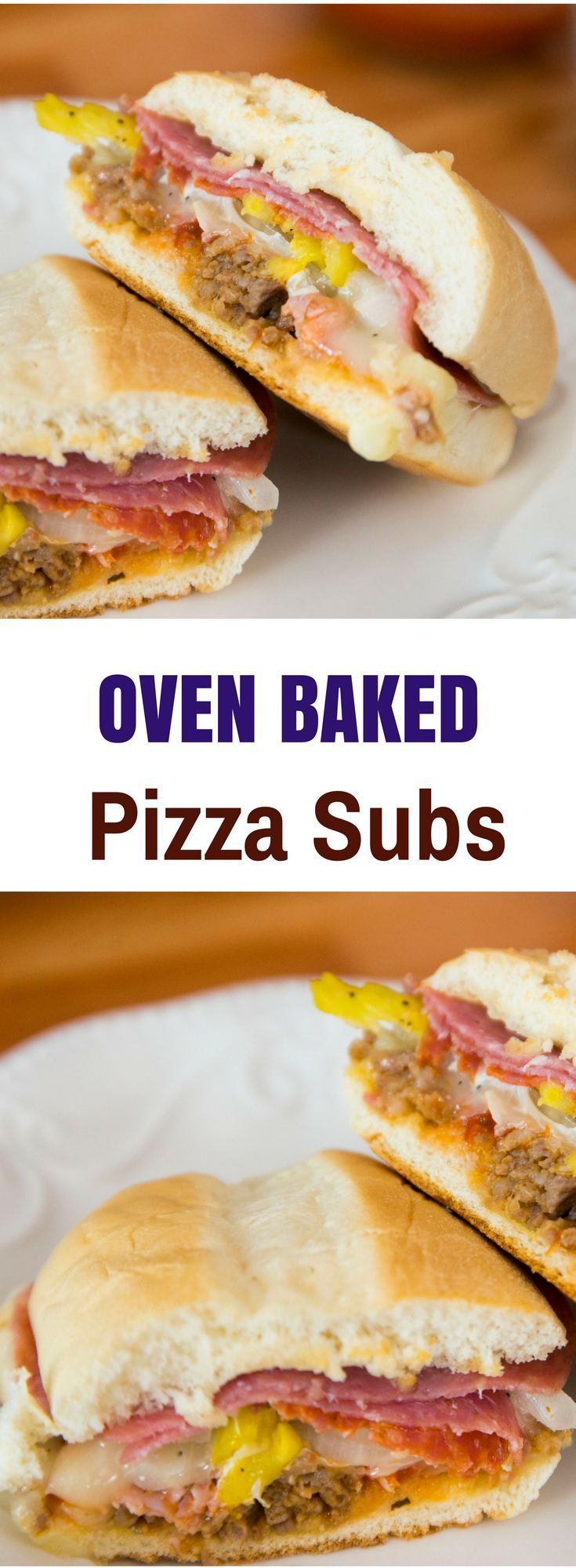 When the weekend comes, we all could use a new idea for lunch! These Pizza Sub Sandwiches are melt-in-your-mouth yummy, and so much better than take-out!