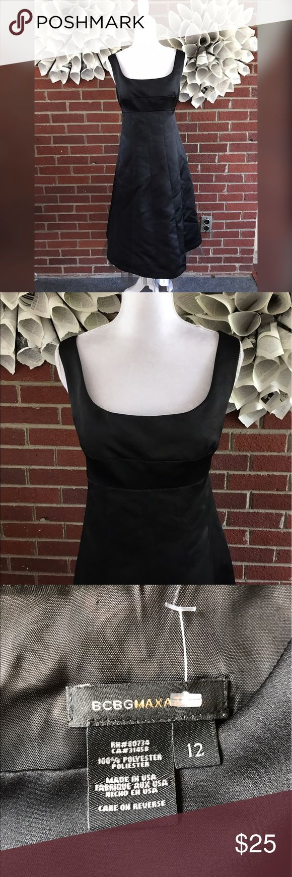BCBG MAxAZria Sleeveless Satin tuelle lined dress Please see photos for all measure in detail. This item comes from a smoke free home. There are no holes rips tears or stains to note. Shipping is fast! Buy with confidence! Thanks for looking and happy shopping! BCBGMaxAzria Dresses Midi